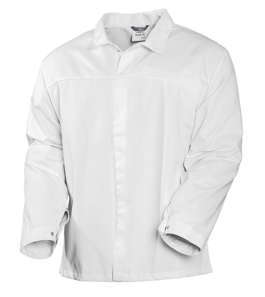 Куртка мужская белая с длинными рукавами 369S-ULTRA-00из износостойкой полусинтетики