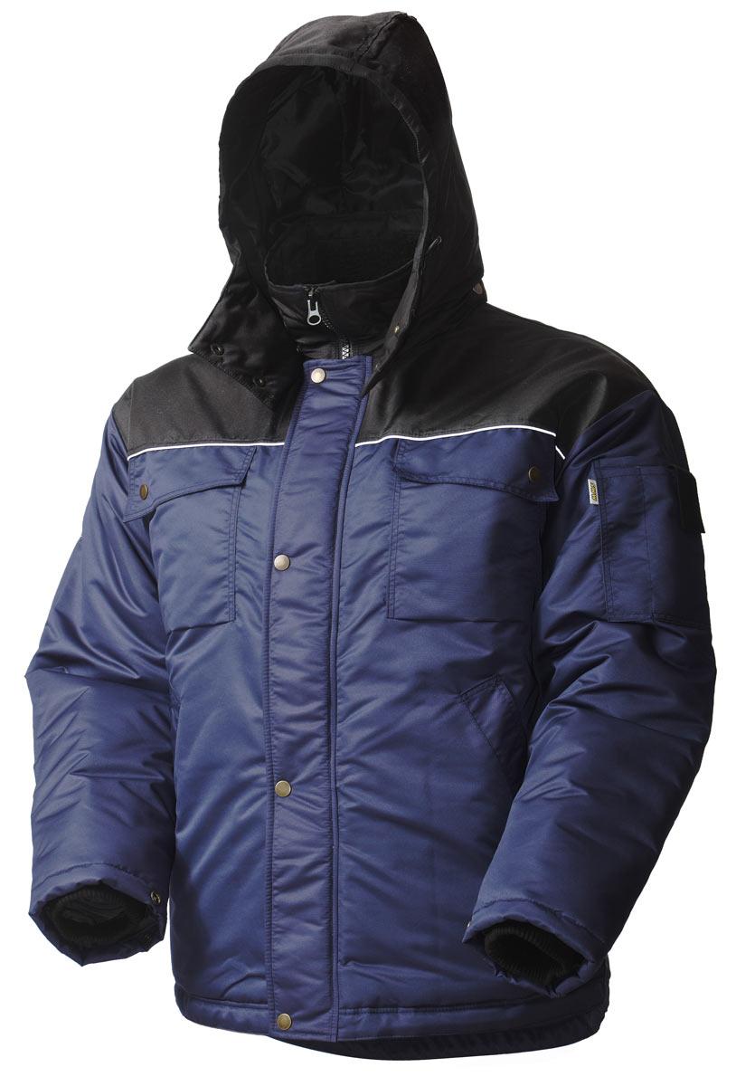 Зимняя куртка рабочая мужская 419•C-TASLAN-15/90 на стеганой подкладке с отстегивающимся капюшоном и  удлиненной спинкой в интернет-магазине sww.com.ru