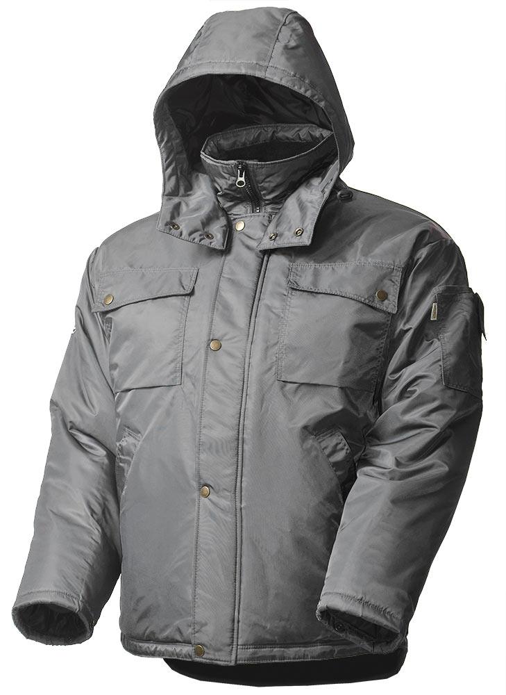 Зимняя куртка большого размера мужская рабочая 428CBIG-TWILL-58 на стеганой подкладке с удлиненной спинкой в интернет-магазине sww.com.ru