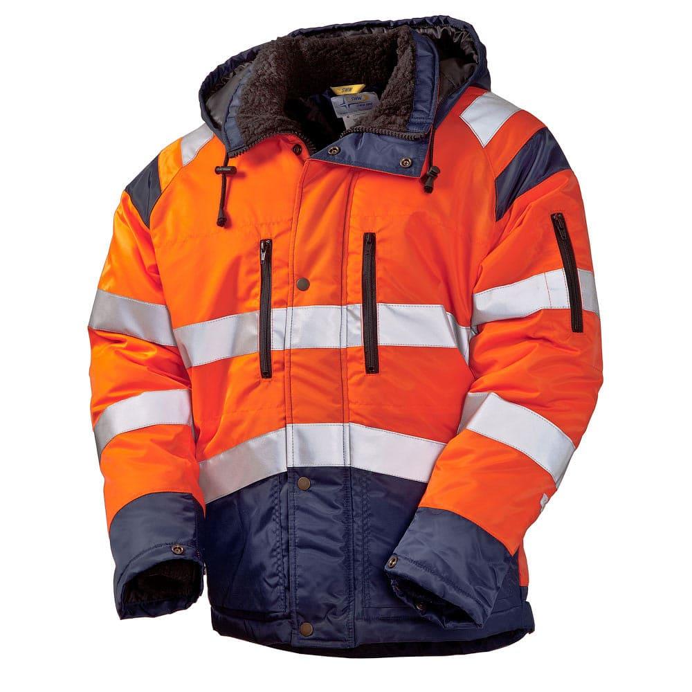 Зимняя куртка сигнальная 4677T-TWILL FT-77/15 на стеганой подкладке со световозвращающими лентами в интернет-магазине sww.com.ru