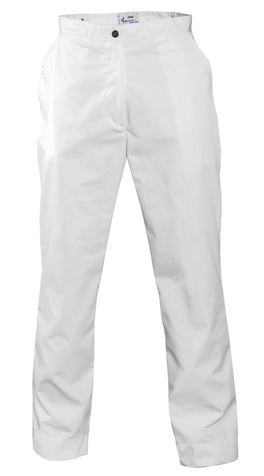 Брюки женские белые 1269S-ULTRA-00 из износостойкой полусинтетики