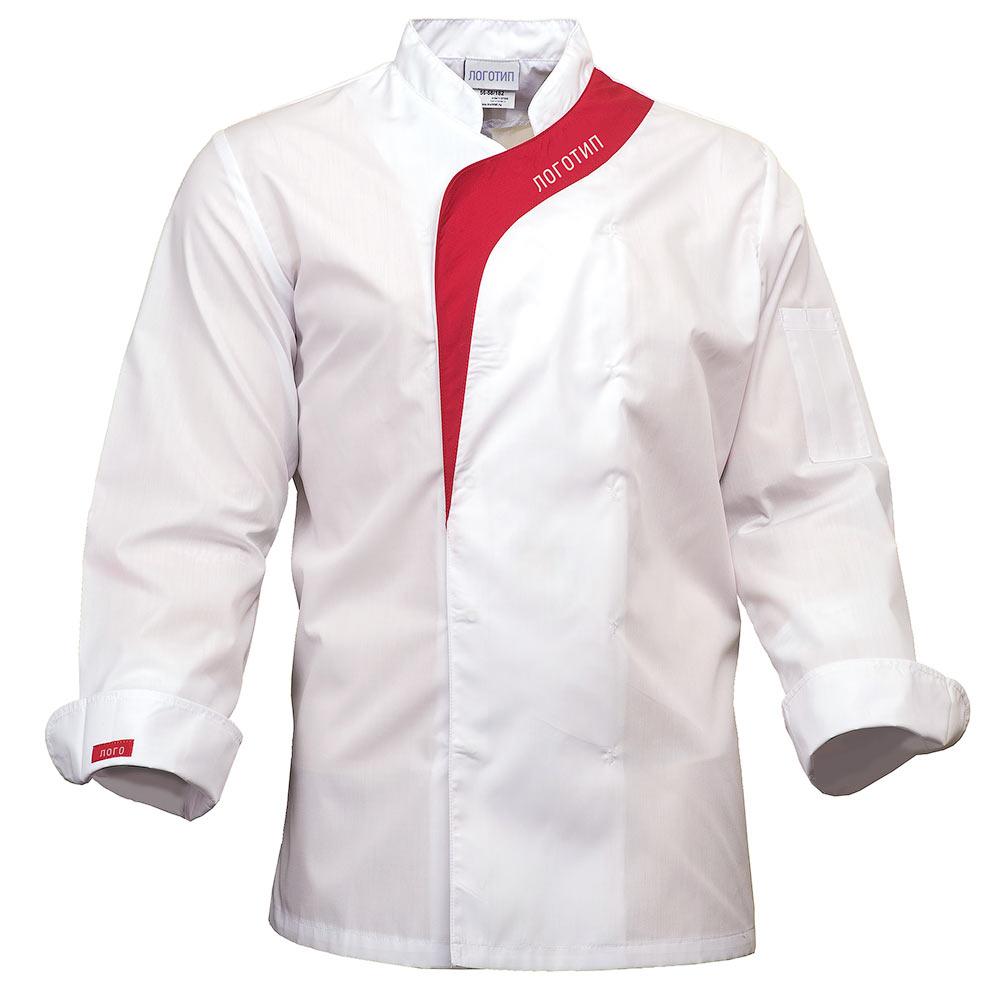 Китель повара мужской белый MJ6590-TRENDLITE-00/81 в интернет-магазине sww.com.ru