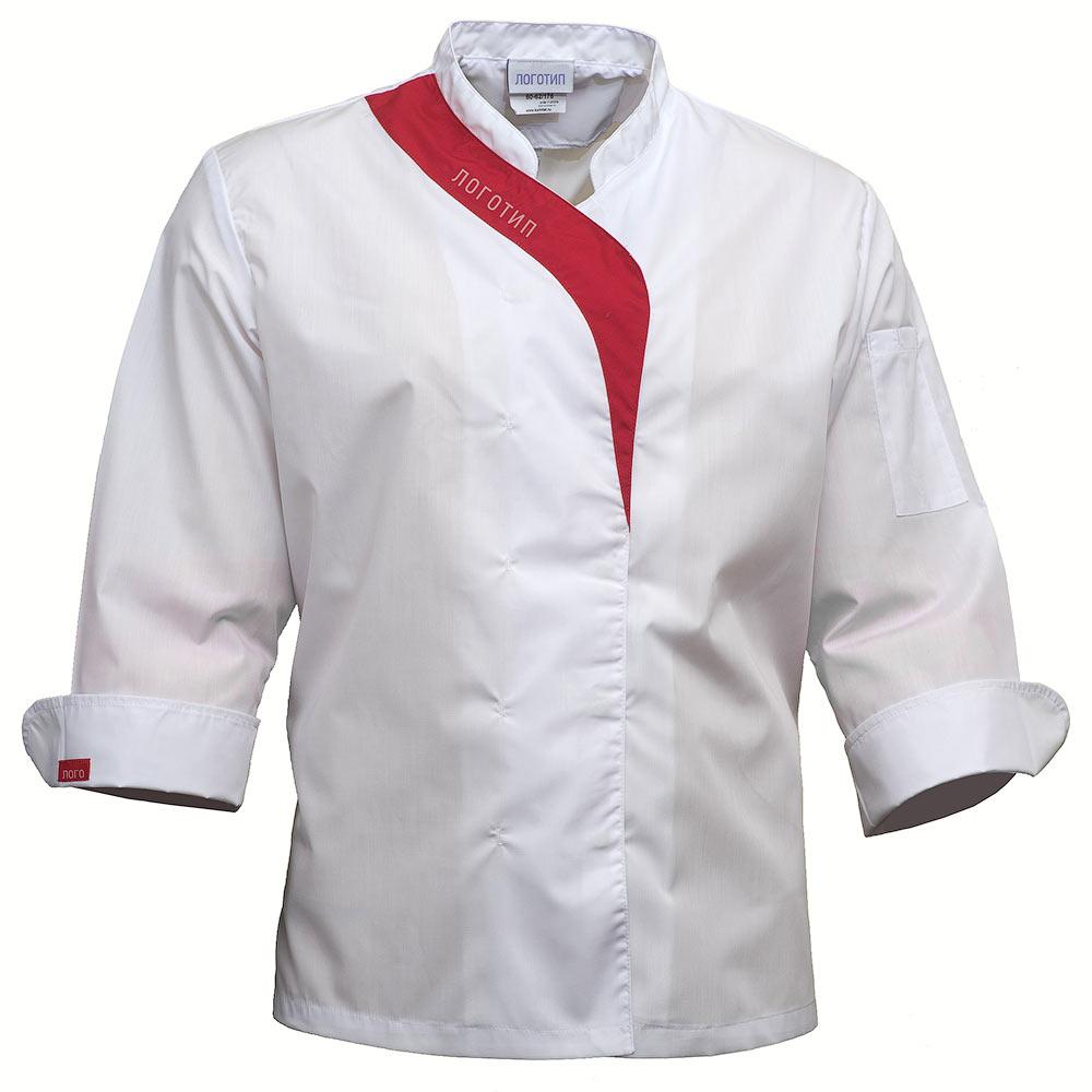 Китель повара женский белый FJ6820-P159-00/81 в интернет-магазине sww.com.ru