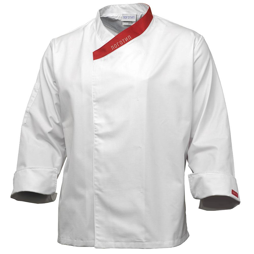 Китель повара мужской белый UJ6820-P159-00/81 в интернет-магазине sww.com.ru