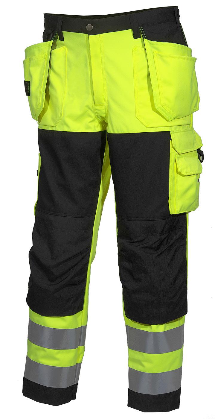 Брюки рабочие летние мужские сигнальные желто-черные 2132-FOREMAN-71/90для дорожных рабочих в интернет-магазине sww.com.ru