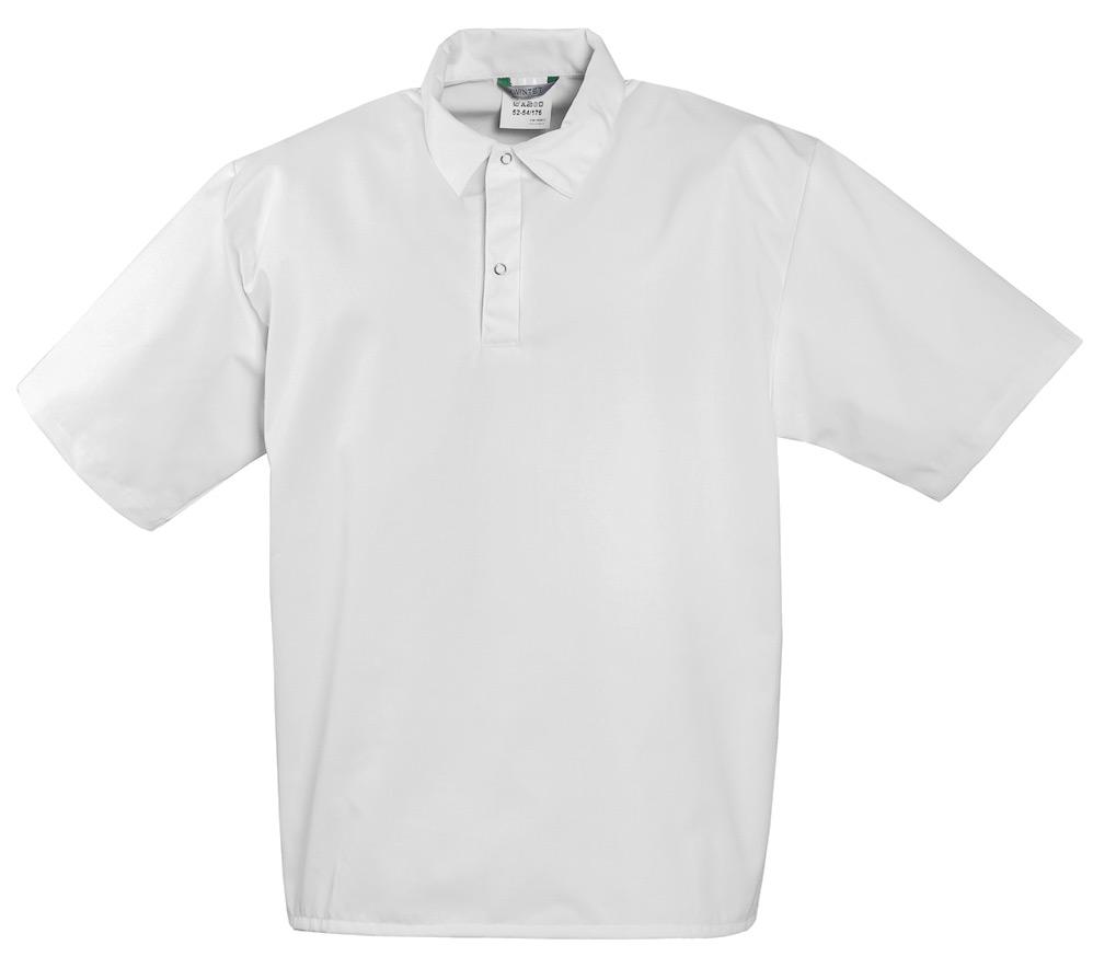 Блуза пекаря белая с короткими рукавами 722S-00 из износостойкой полусинтетики