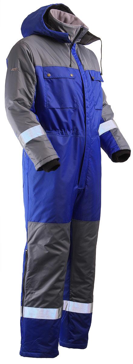 Зимний комбинезон двухцветный мужской 888N-TWILL-16/58 на стеганой подкладке в интернет-магазине sww.com.ru (вид справа)