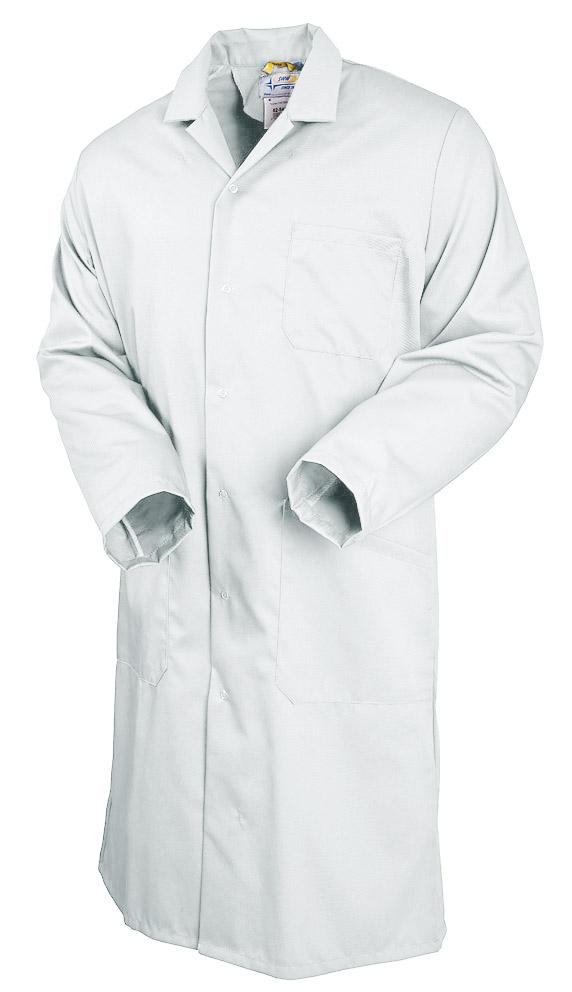 Халат мужской белый 104-TOMBOY-00 из износостойкой смесовой ткани