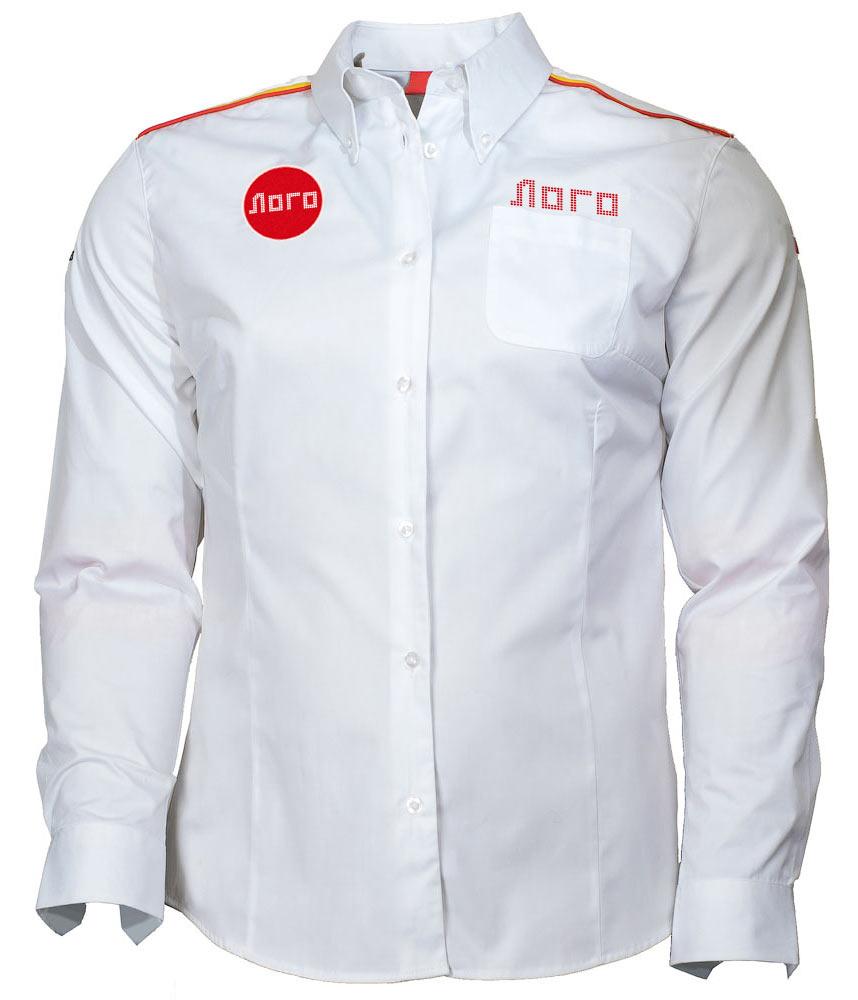 Классическая белая женская рубашка с длинными рукавами 112 в интернет-магазине sww.com.ru