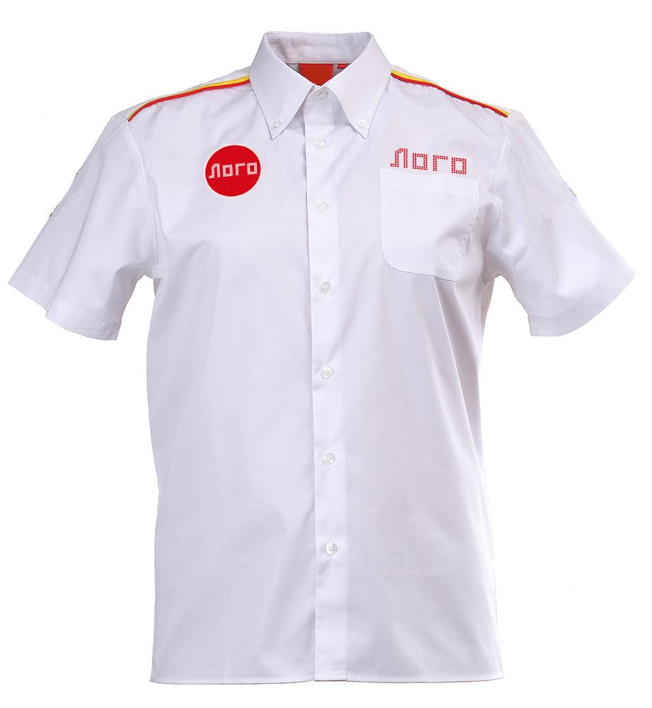 Классическая белая мужская рубашка с короткими рукавами 120 в интернет-магазине sww.com.ru