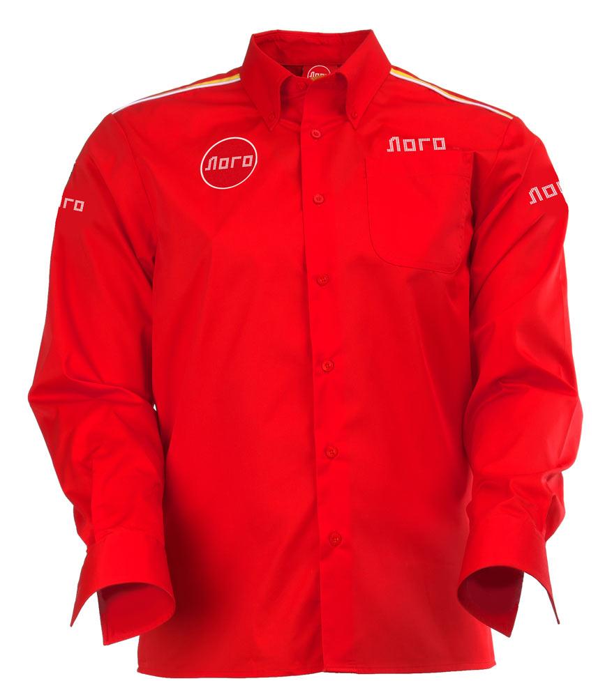 Классическая красная мужскаярубашка с длинными рукавами 122 в интернет-магазине sww