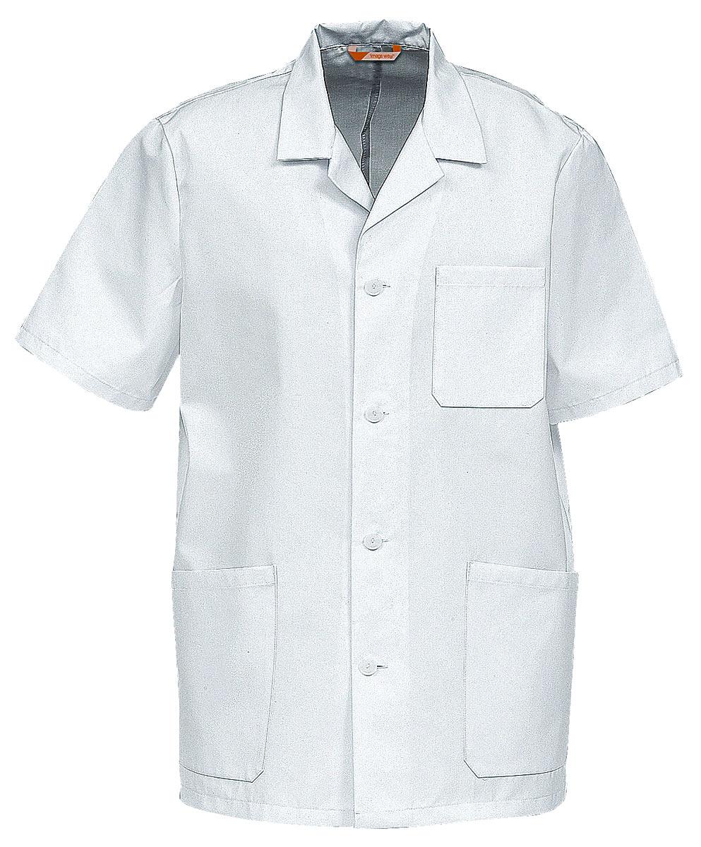 Куртка мужская белая с короткими рукавами Image Wear 46470-500-001из износостойкой полусинтетики