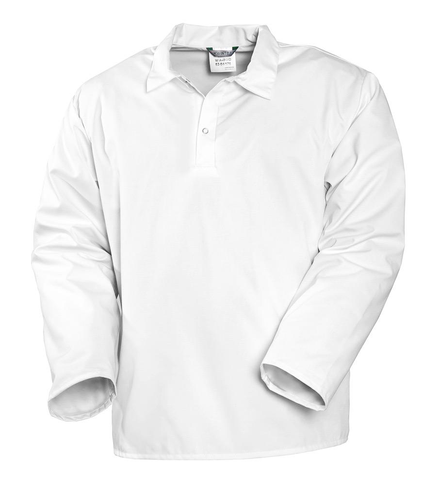 Блуза пекаря белая с длинными рукавами 723S-ULTRA-00 из износостойкой полусинтетики