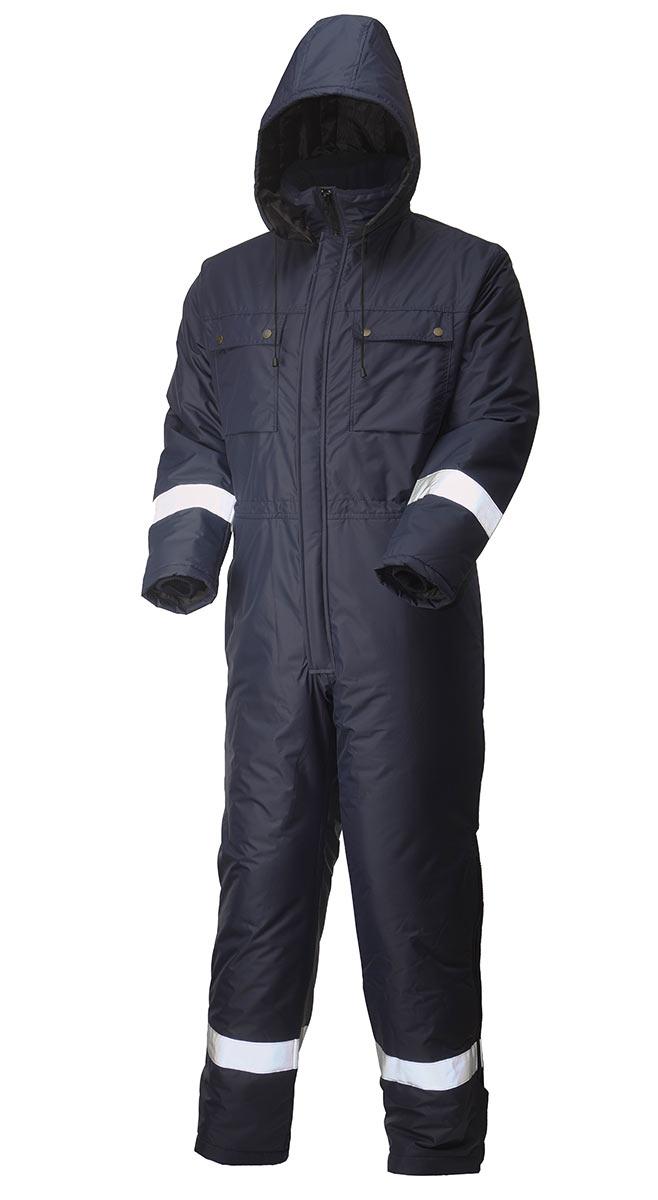 Зимний комбинезон с капюшоном 888R-TWILL FT-15 на стеганой подкладке в интернет-магазине sww.com.ru