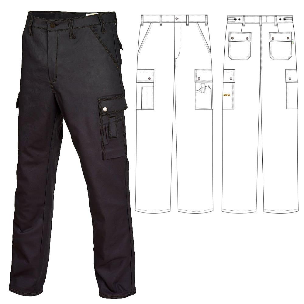 Летние брюки 233T1-P154-90 из смесовой ткани в интернет-магазине sww.com.ru