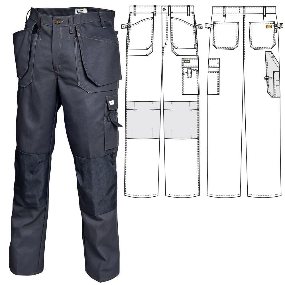 Летние брюки 255KT-FAS-55 из плотной хлопчатобумажной ткани в интернет-магазине sww.com.ru