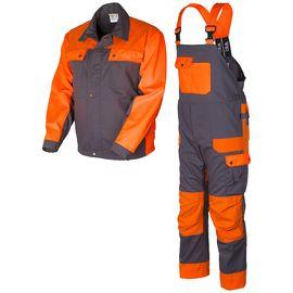 Костюм рабочий летний мужской серо-оранжевый374K-84K-P154-55/77из куртки и полукомбинезона