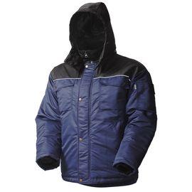 Зимняя куртка мужская рабочая 419C-TWILL-15/90 на стеганой подкладке с отстегивающимся капюшоном и удлиненной спинкой в интернет-магазине sww.com.ru