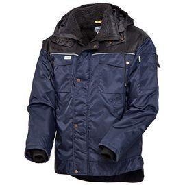Зимняя куртка 419-TWILL-15/90 на подкладке из искусственного меха с удлиненной спинкой в интернет-магазине sww.com.ru