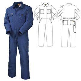 Рабочий летний мужской комбинезон 830W-P155-15 из износостойкой смесовой ткани  в интернет-магазине sww.com.ru