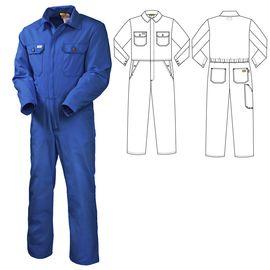 Рабочий летний мужской комбинезон 830W-P154-16 из износостойкой смесовой ткани  в интернет-магазине sww.com.ru