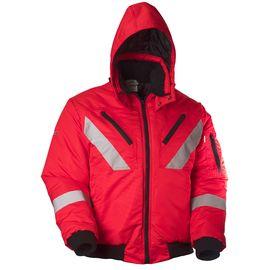 Зимняя мужская рабочая укороченная куртка (пилот) на стеганой подкладке с капюшоном и СВЛ442KCR-PP-80 в интернет-магазине sww.com.ru Вид спереди
