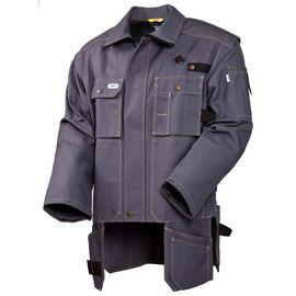 Летняя куртка  450T-FAS-58 из хлопка FAS (360 г/кв. м)  с отстегивающимися рукавами  и отлетными карманами в интернет-магазине sww.com.ru Вид спреди