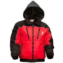 Зимняя двухцветная (красно-черная) куртка 464-TASLAN-80/90 в интернет-магазине sww.com.ru