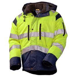 Зимняя куртка 4677•T-TWILL-71/15 на стеганой подкладке со световозвращающими лентами в интернет-магазине sww.com.ru