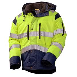 Зимняя куртка 4677T-TWILL-71/15 на стеганой подкладке со световозвращающими лентами в интернет-магазине sww.com.ru
