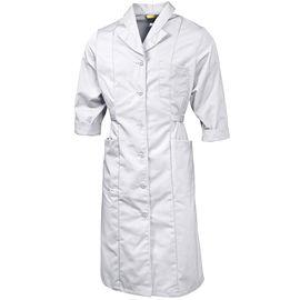 Халат женский белый 111-P159-00 из износостойкой полусинтетики
