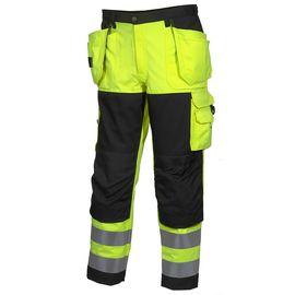 Брюки рабочие летние мужские сигнальные желто-черные 2132-P155-71/90для дорожных рабочих в интернет-магазине sww.com.ru