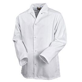 Летняя рабочая белая куртка унисекс 314-TOMBOY-00 из износостойкой полусинтетики