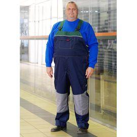 Двухцветный рабочий мужской летний полукомбинезон 81BIG-P154-15/21 большого размера SWW (размер модели 70, рост 182 см)