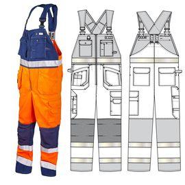 Летний полукомбинезон дорожника 92T-P154-77/15 из смесовой ткани в интернет-магазине sww.com.ru