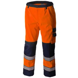 Брюки рабочие летние мужские сигнальные оранжево-синие 2131N-P154-77/15 для дорожных рабочихв интернет-магазине sww.com.ru