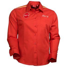 Классическая красная женская рубашка с длинными рукавами 114 в интернет-магазине sww.com.ru