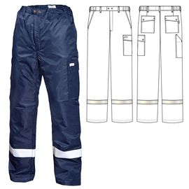Зимние брюки 207R-TWILL-15 на стеганой подкладке с широкой световозвращающей полосой ниже колена в интернет-магазине sww.com.ru