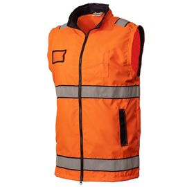 Жилет сигнальный оранжевый на подкладке из сетки 526-BT-77/14 в интернет-магазине sww.com.ru, вид спереди